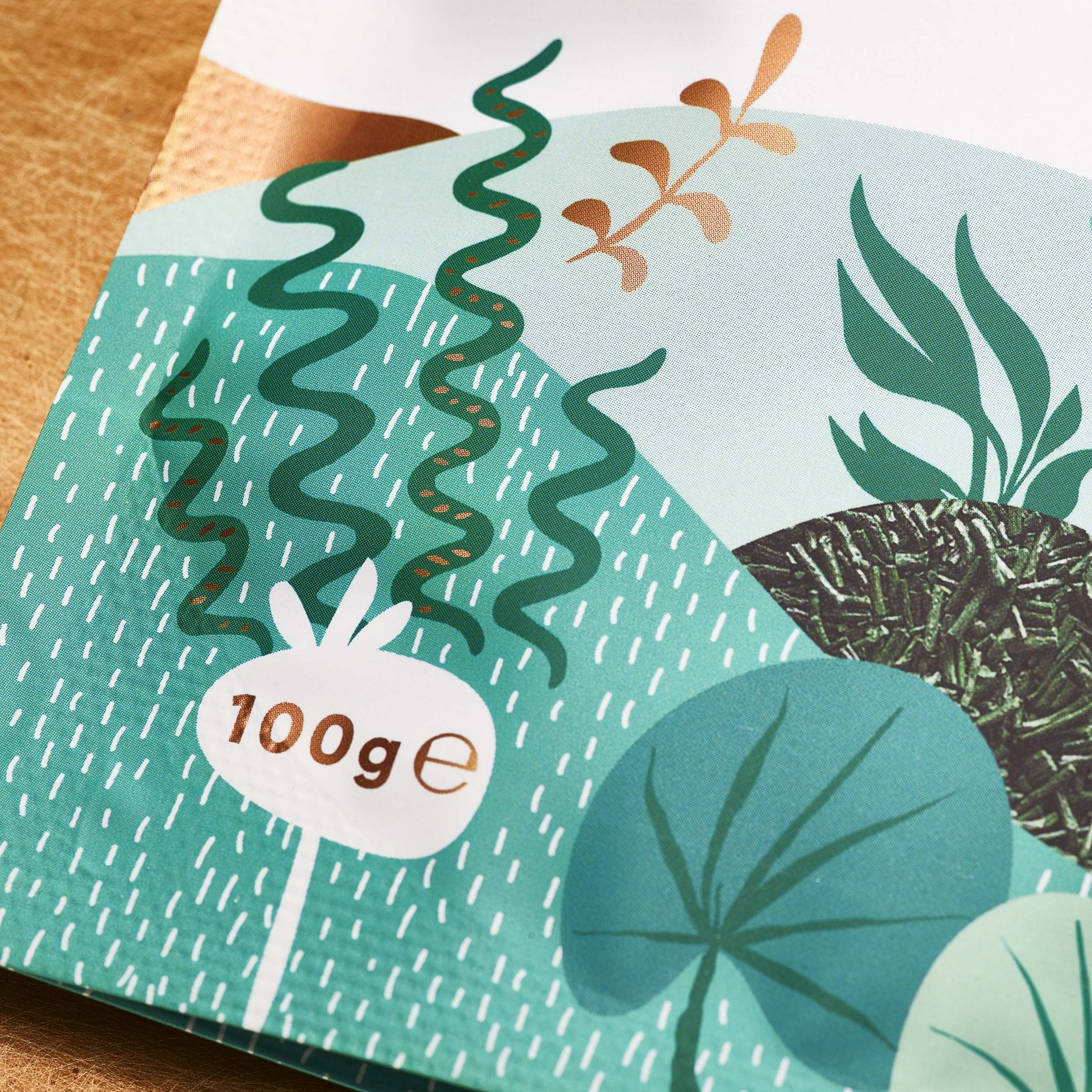 Quatre Mains package design - seaweed