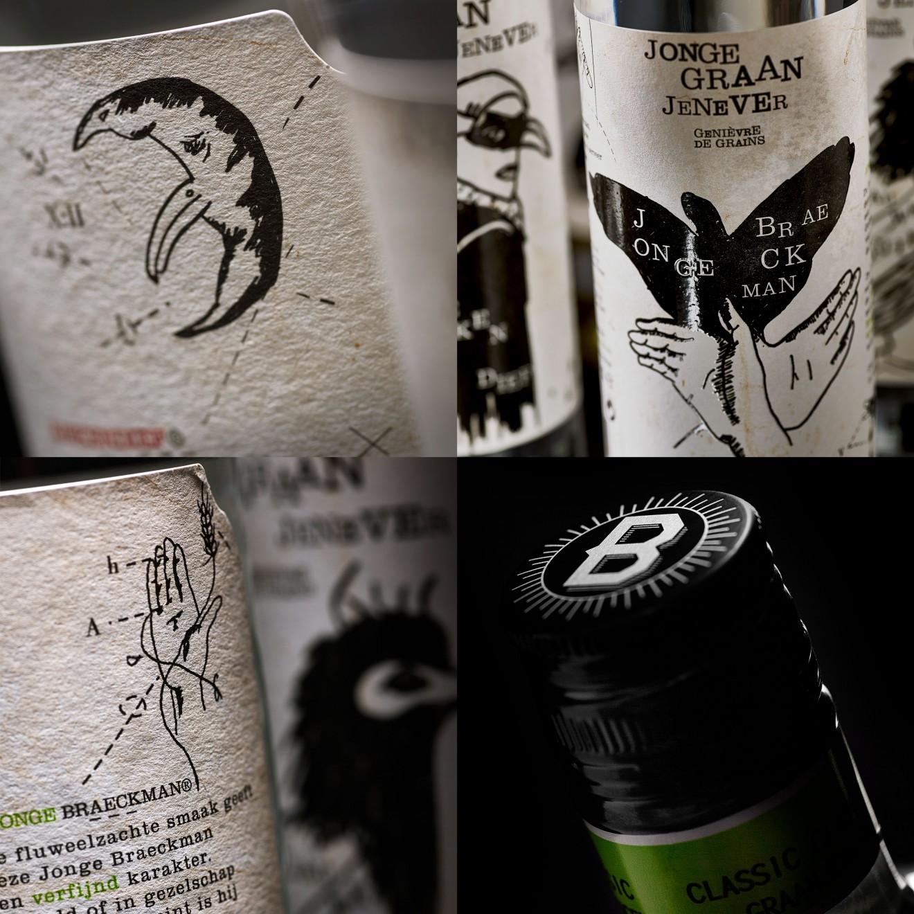 Quatre Mains package design - detail, bottle design, packaging, label