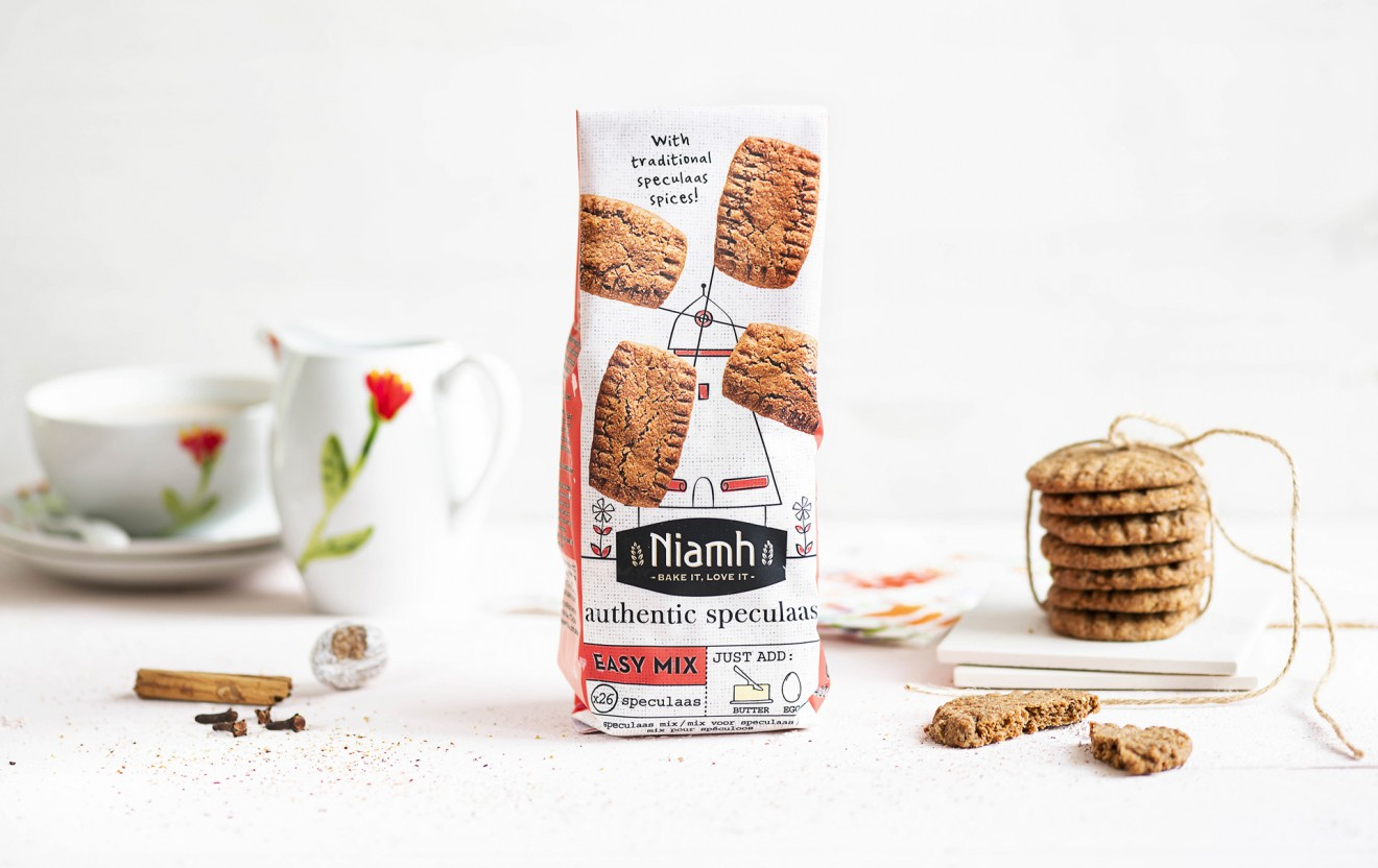 Quatre Mains package design - packaging, speculaas, speculoos, mix, mill