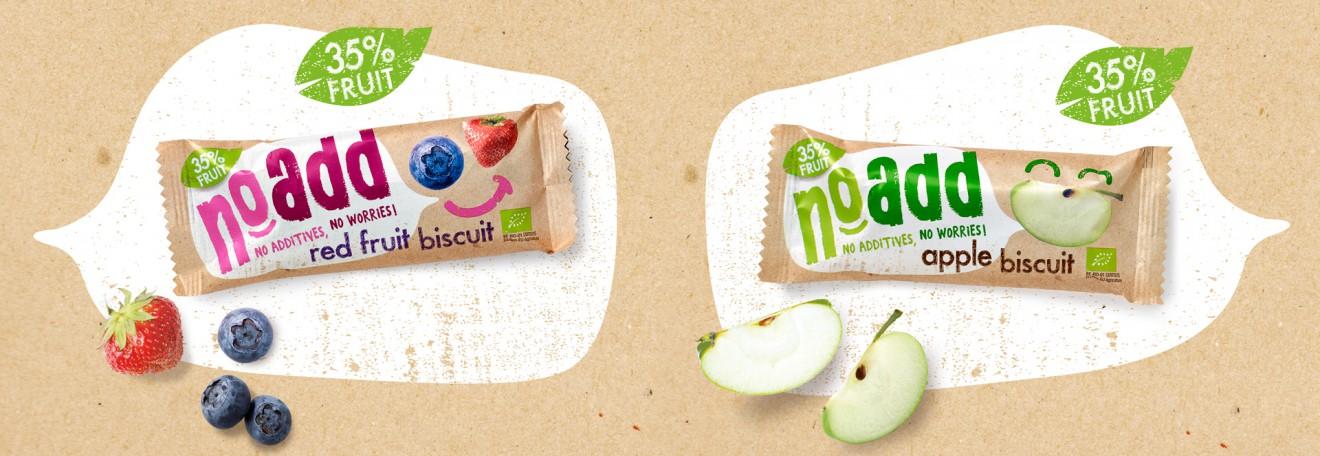Quatre Mains package design - snackbar, apple, red fruits, kraft, packaging