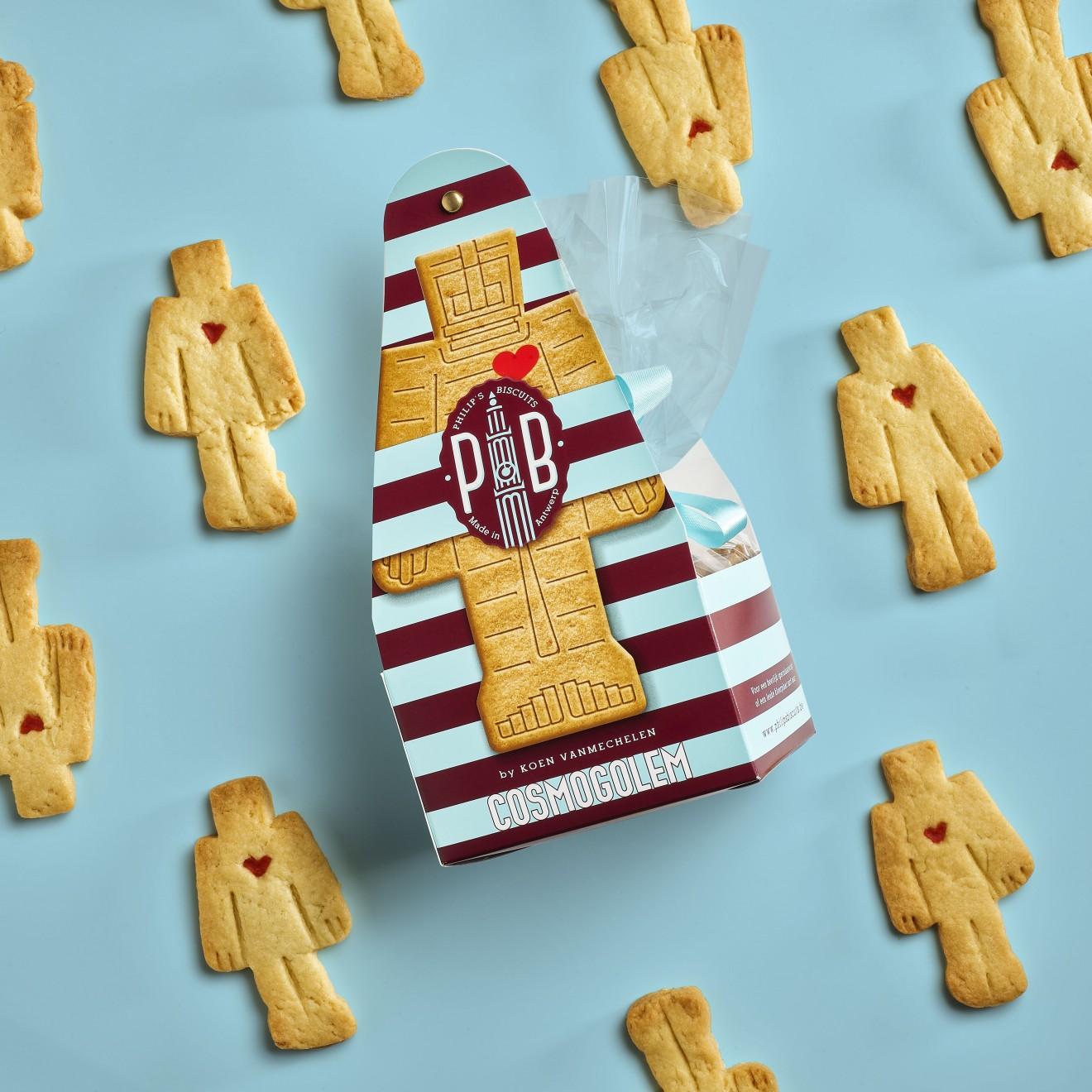 Quatre Mains package design - philips biscuits, cosmogolem