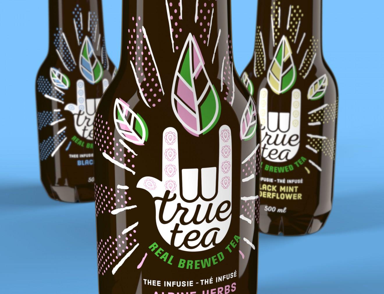Quatre Mains package design - true tea, delhaize, hand, design