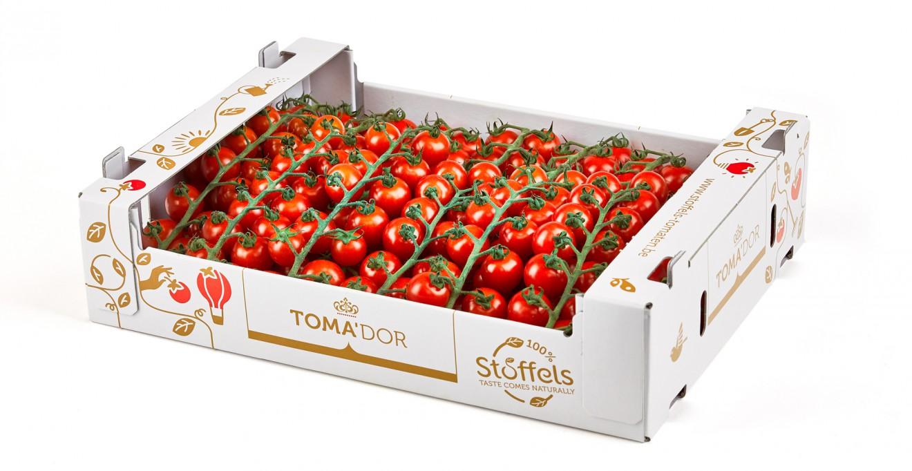 Quatre Mains package design - tray, tomatoes, quatremains