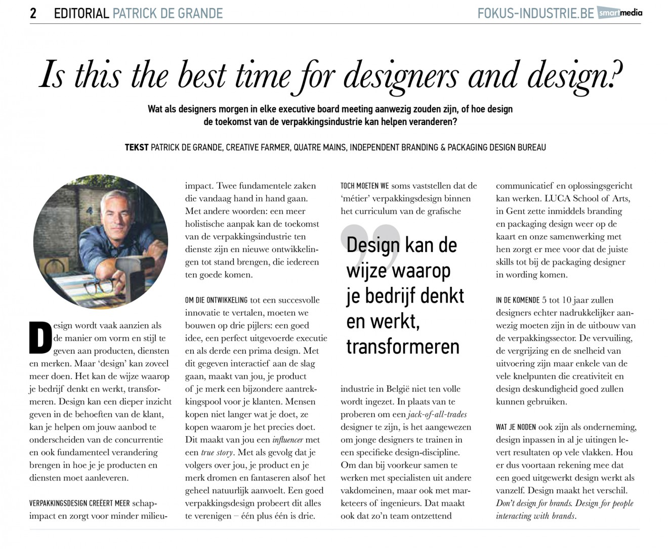 Quatre Mains package design - article, september
