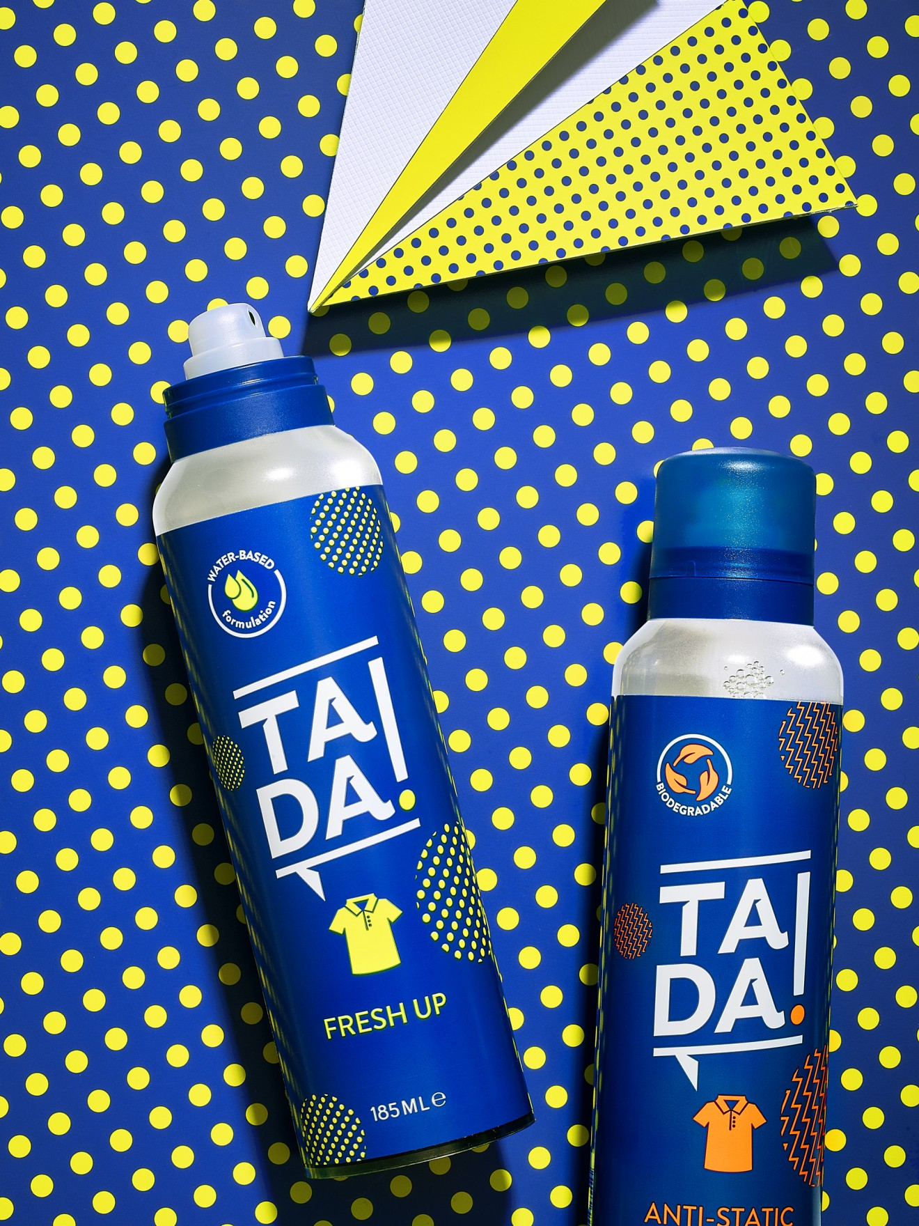 Quatre Mains package design - packaging, spray, refresh, tada!, peritus brands