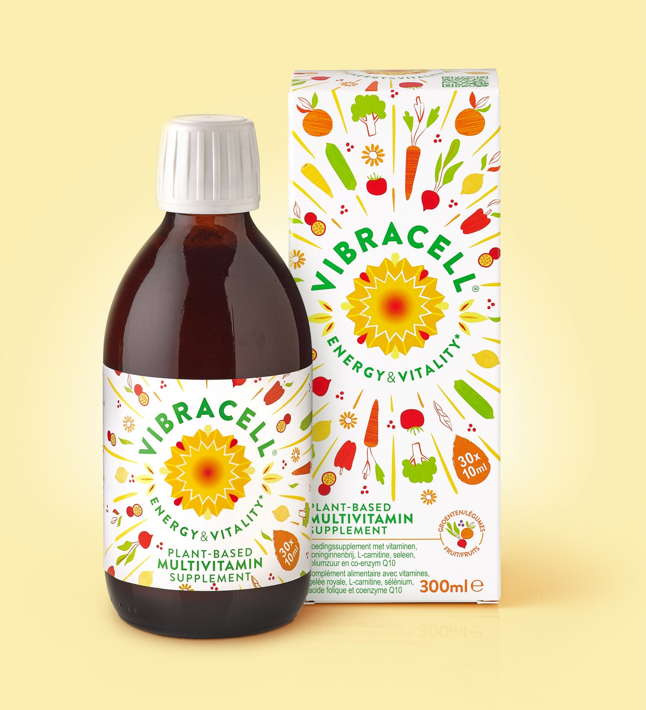 Quatre Mains package design - packaging, syrup, multivitamin