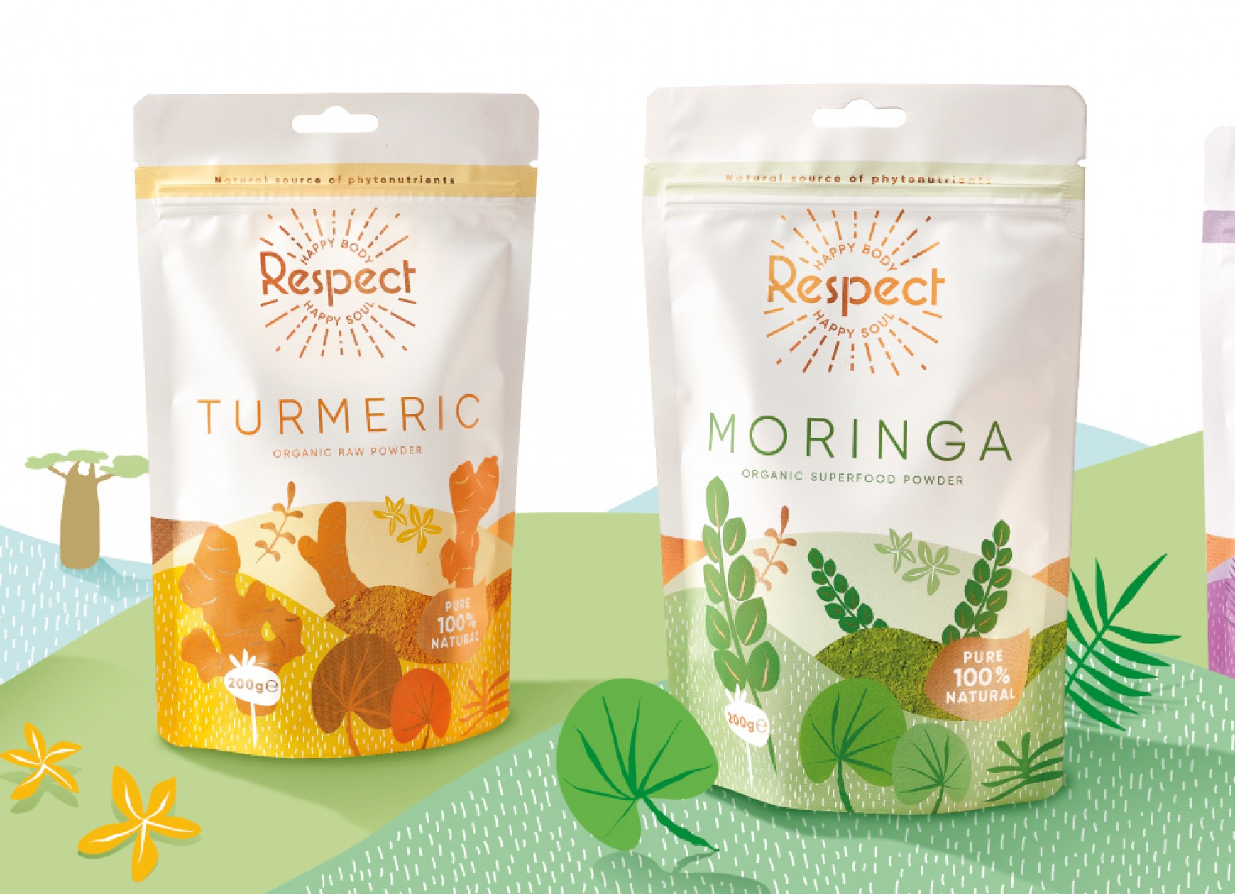 Quatre Mains package design - respect, kenyin, ghana, quatre mains