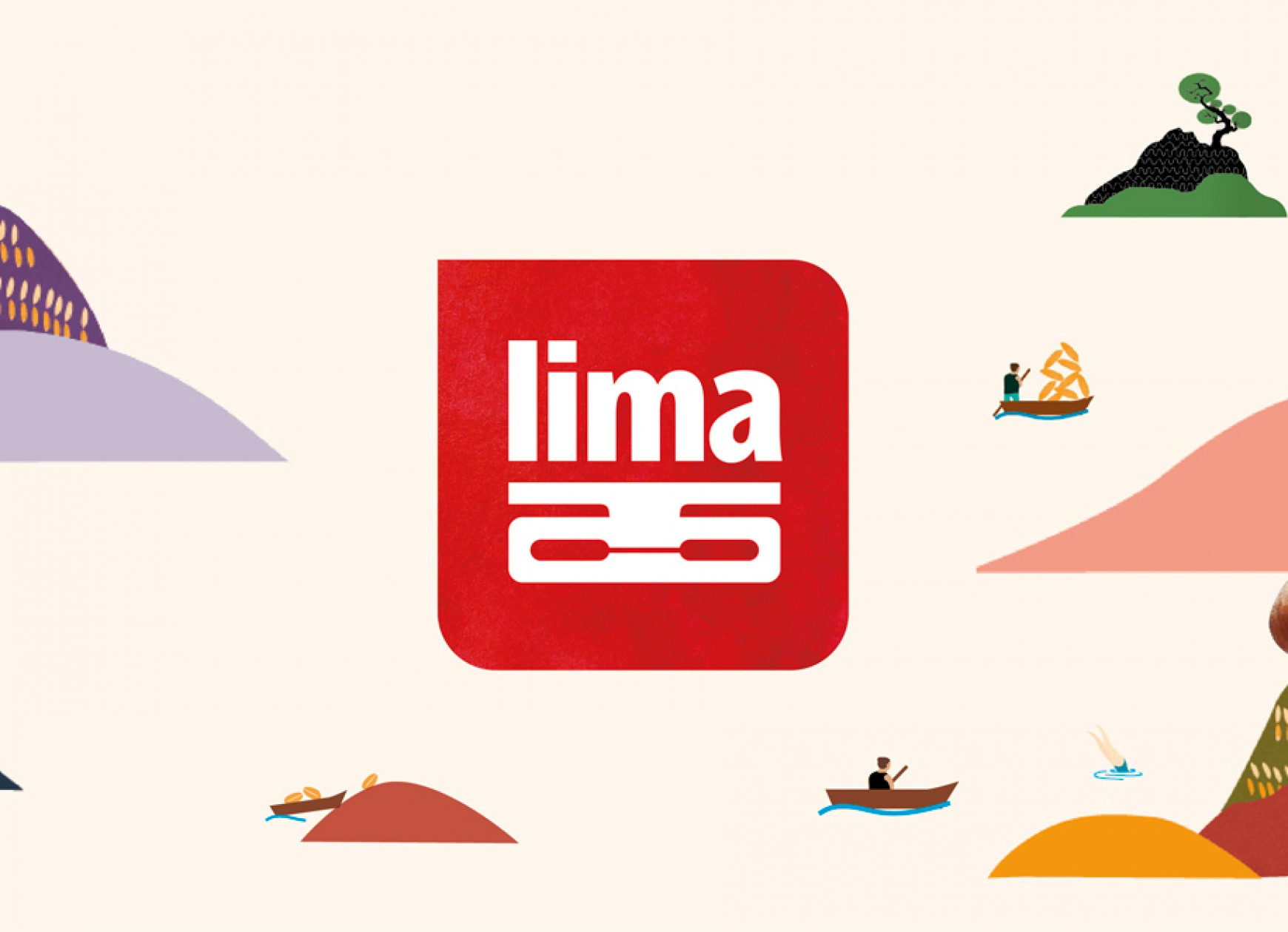 Quatre Mains package design - lima, lima land, illustrations