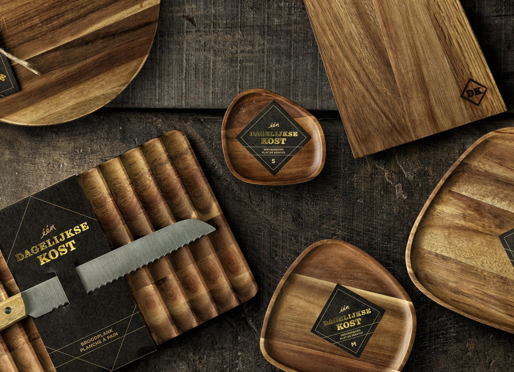 Quatre Mains package design - Dagelijkse Kost Planken, Quatre Mains, Packaging, Branding