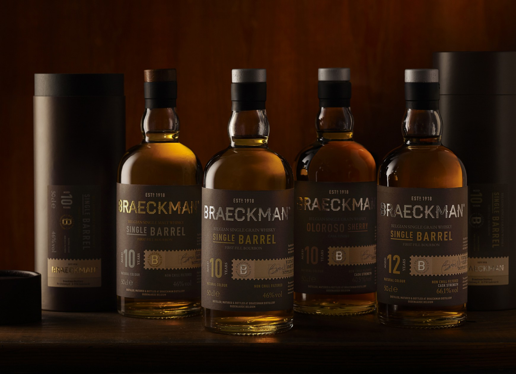 Quatre Mains package design - whiskey, braeckman, quatre mains, packaging