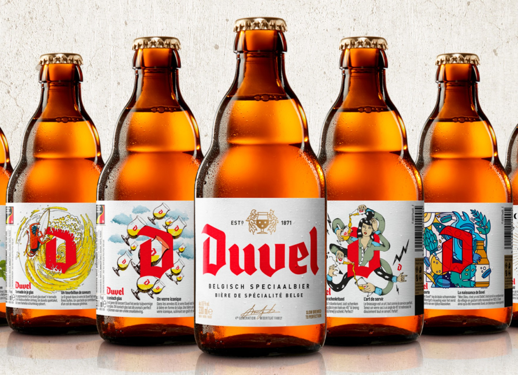 Quatre Mains package design - Package design duvel, restyling, update, quatre mains