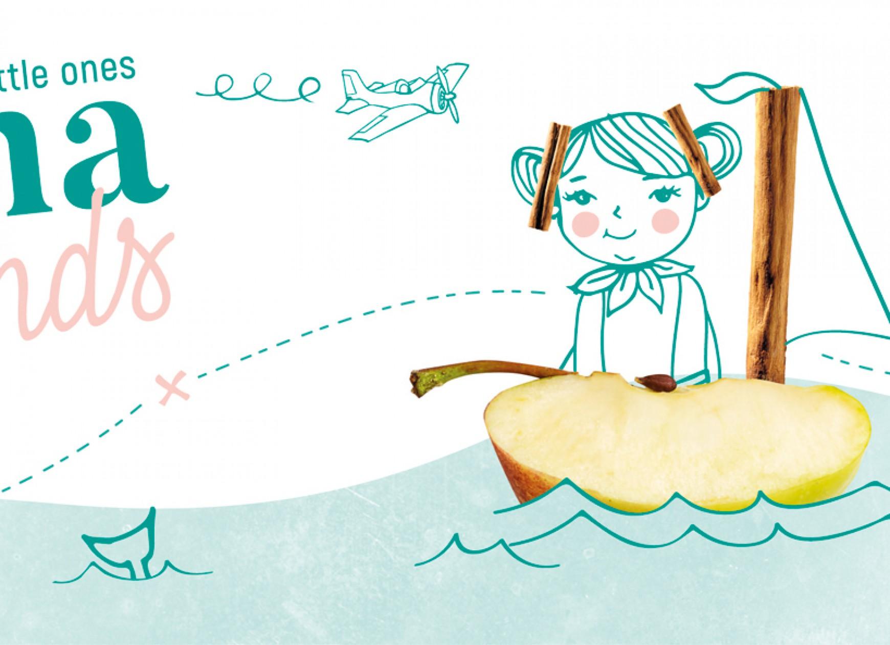 Quatre Mains package design - sienna&friends, babyfood, quatremains, packaging