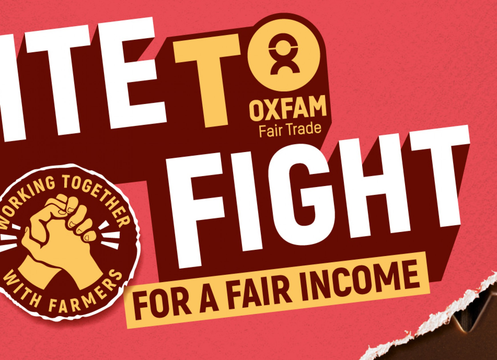 Quatre Mains package design - bite to fight, chocolate, oxfam, restyling