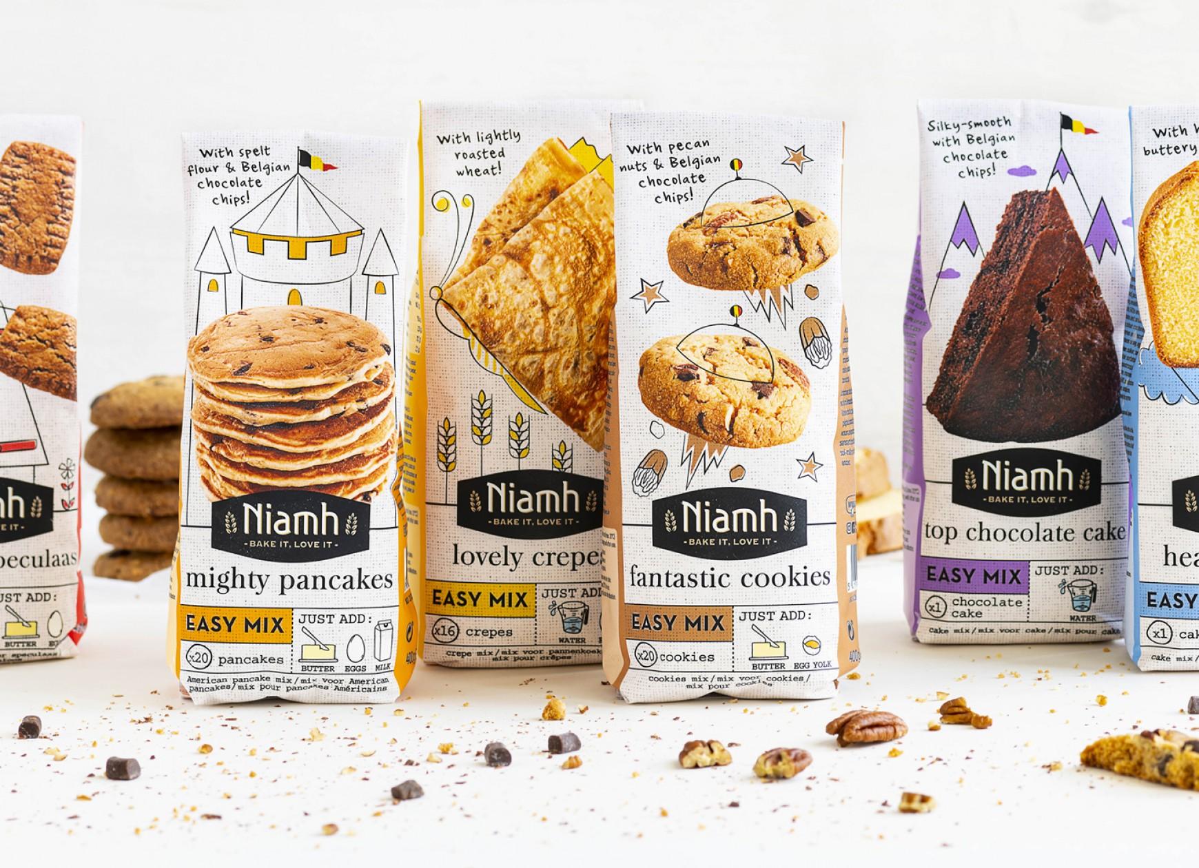 Quatre Mains package design - sweet range, baking, niamh, quatre mains
