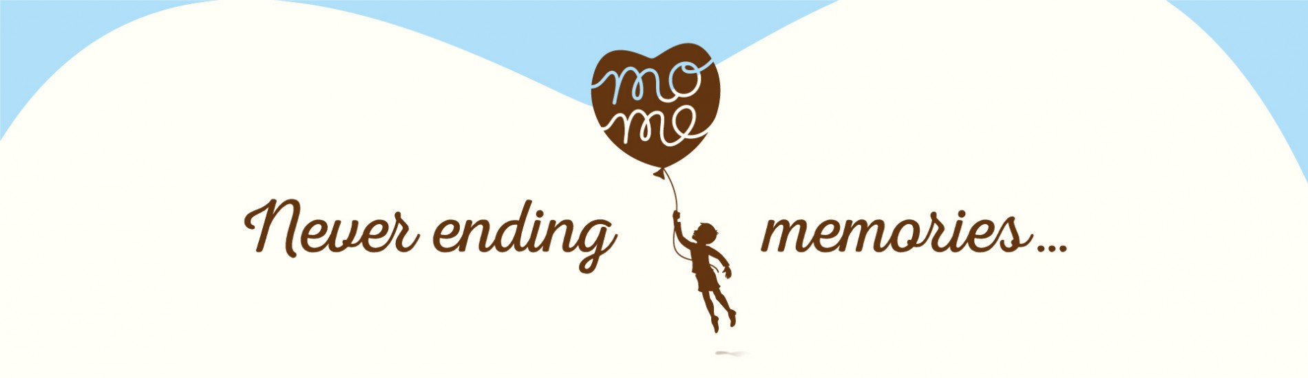 Quatre Mains package design - Package design mome branding, restyling, child, memories, balloon