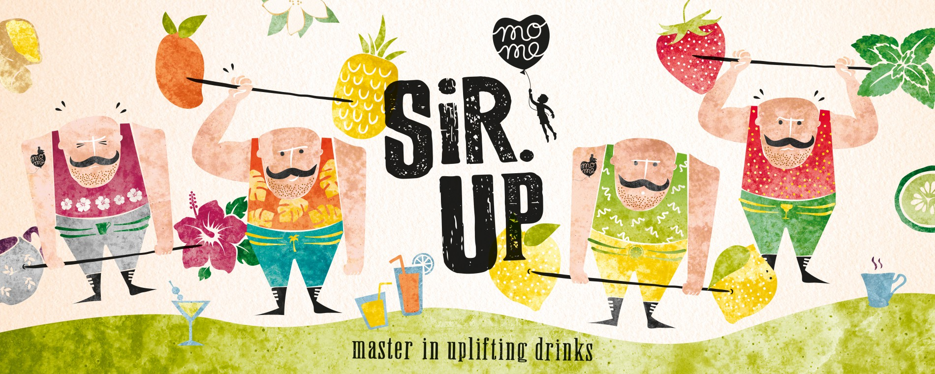 Quatre Mains package design - Package design sirup, cordials, weightlifter, quatre mains, packaging