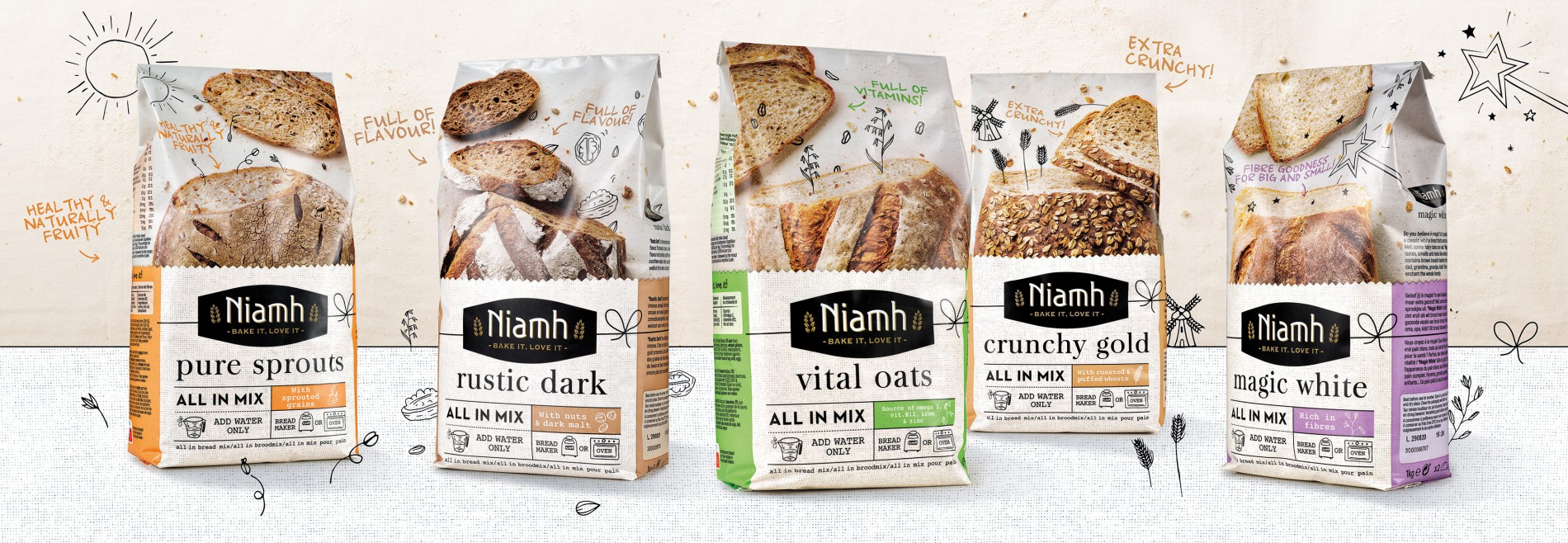 Quatre Mains package design - Package design niamh, quatre mains
