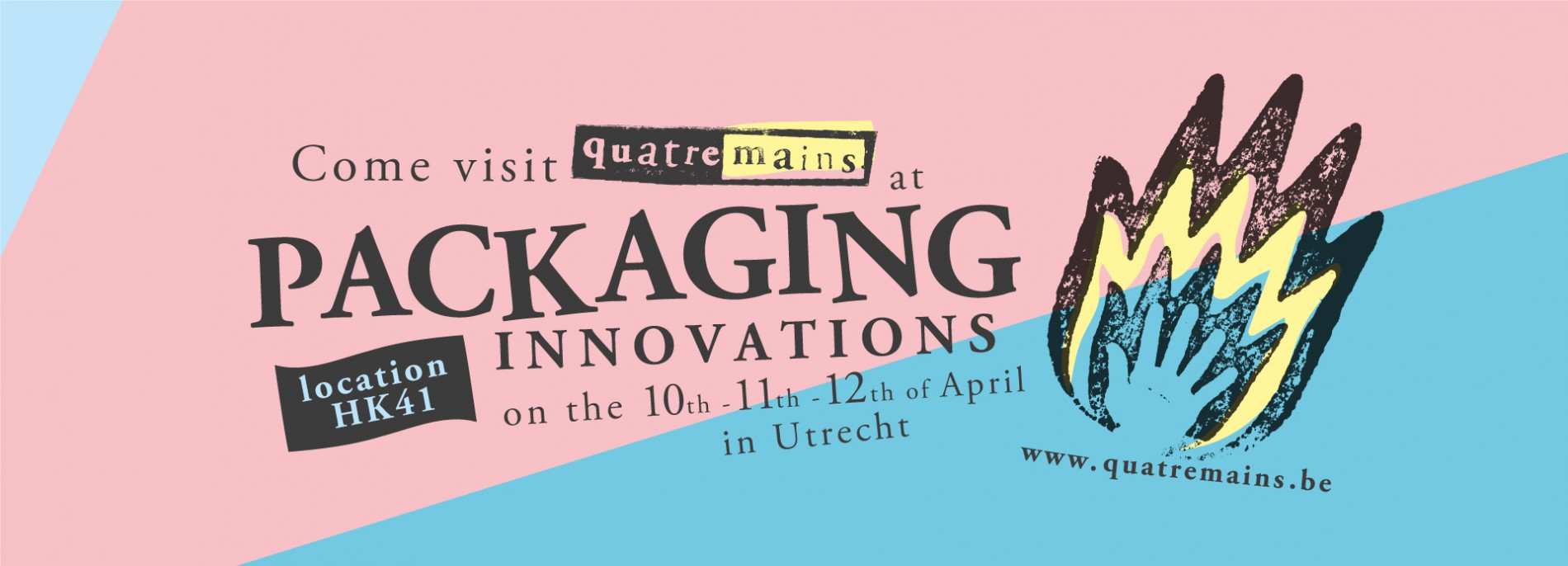 Quatre Mains package design - quatre mains, packaging innovations, utrecht, beurs
