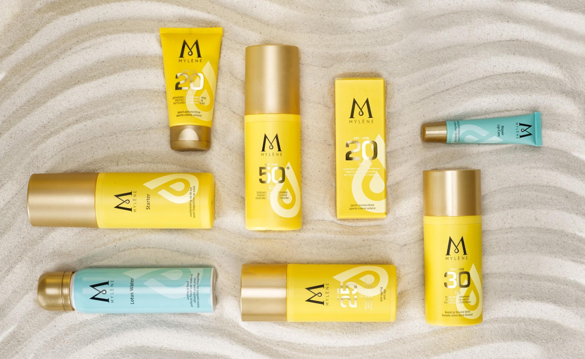 Quatre Mains package design - Package design suncare, mylène, quatre mains