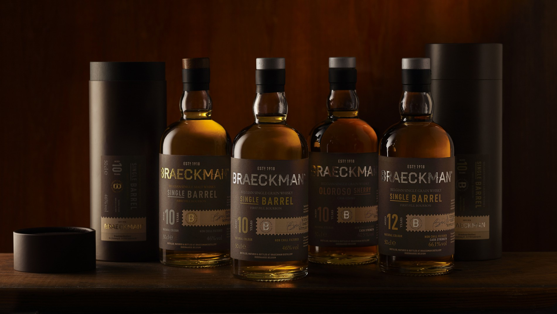 Quatre Mains package design - Package design whiskey, braeckman, quatre mains, packaging