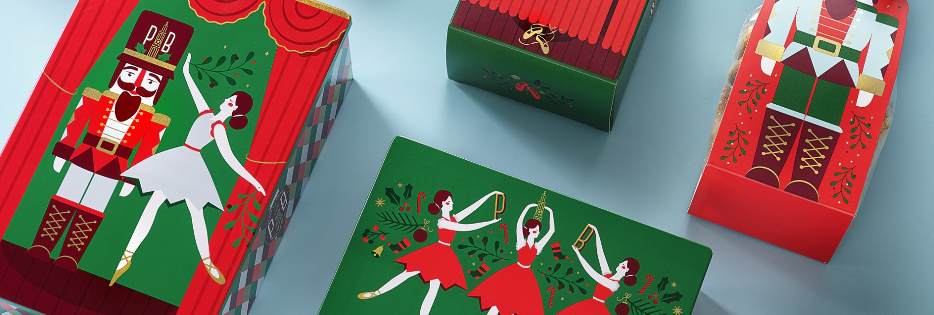 Quatre Mains package design - Package design philips biscuits, nutcracker, end of year