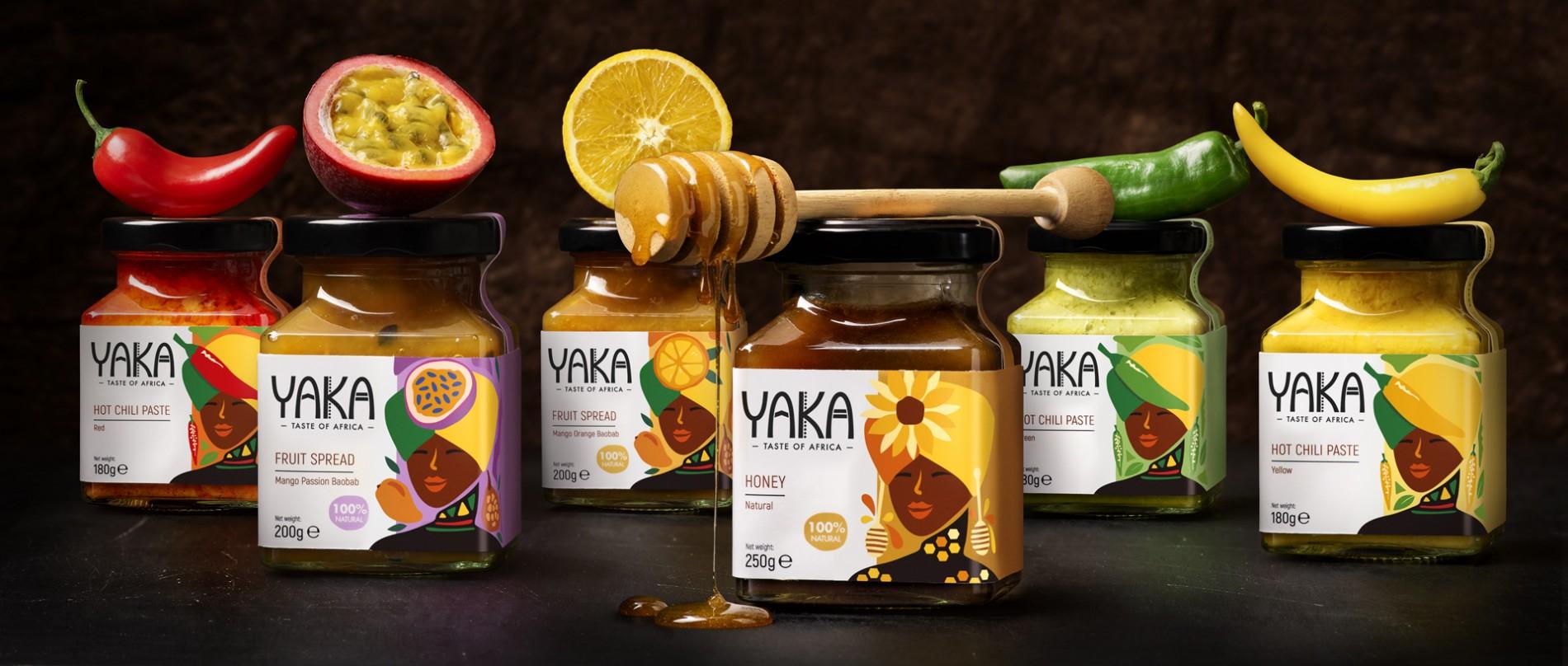 Quatre Mains package design - Package design Yaka, jams, chili paste, quatre mains