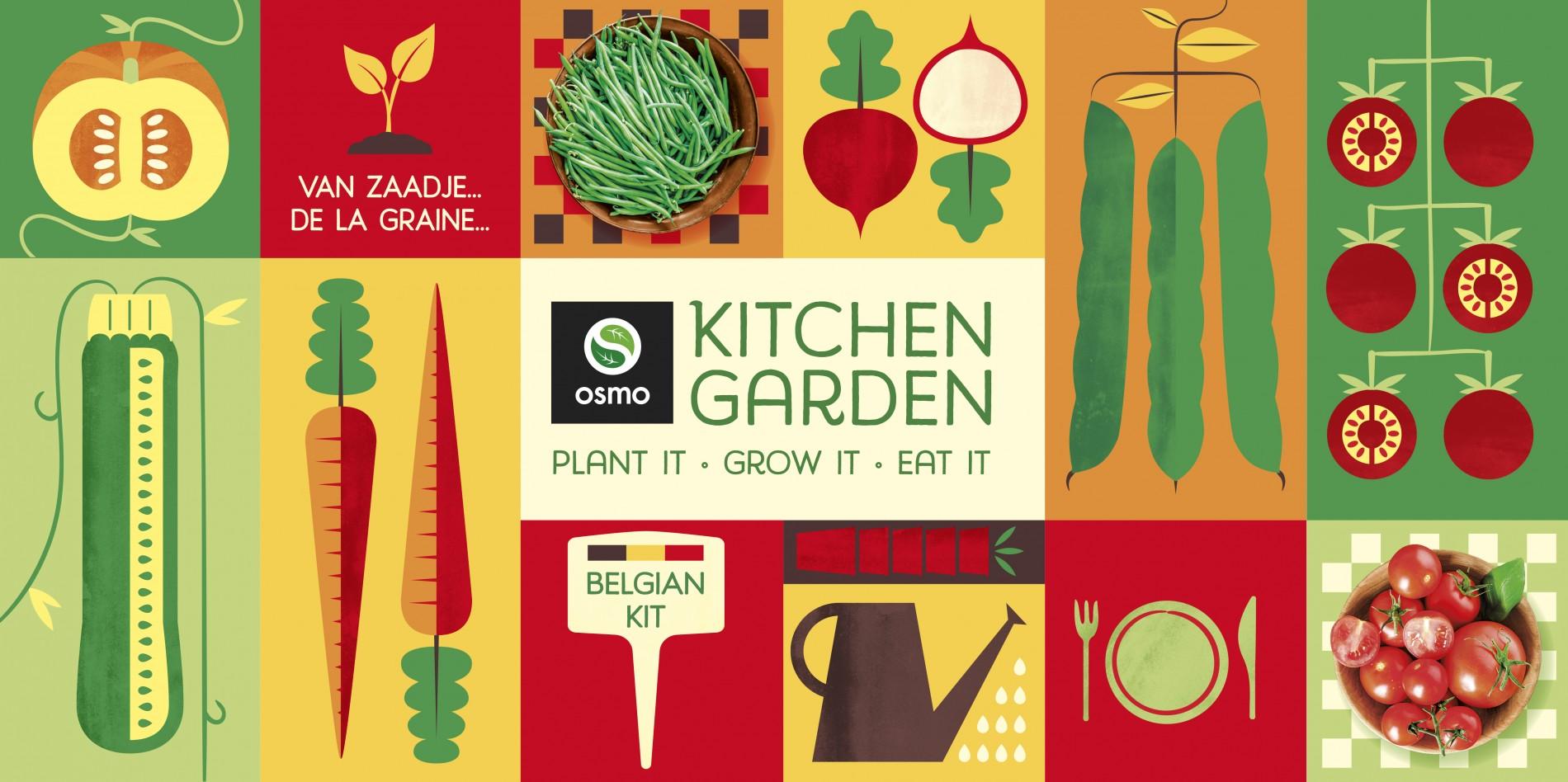 Quatre Mains package design - Package design osmo, kitchen garden
