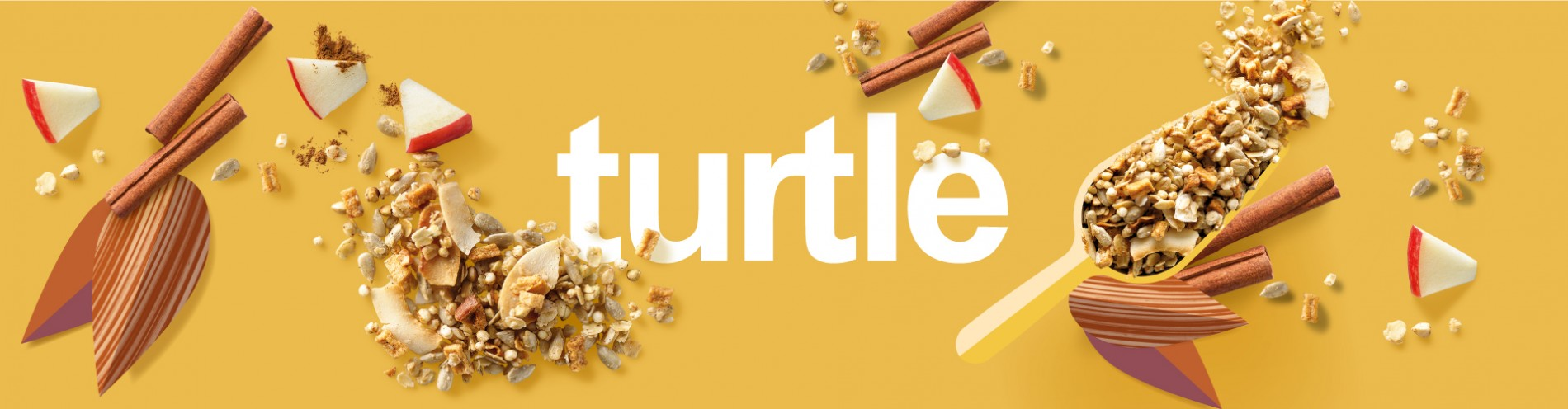Quatre Mains package design - Package design turtle, granola
