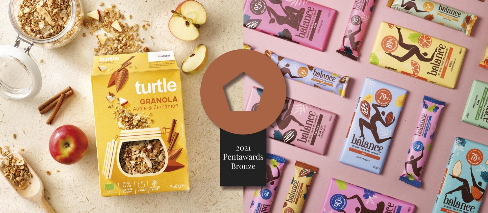 Quatre Mains package design - pent awards 2021, turtle, balance, klingele, quatre mains