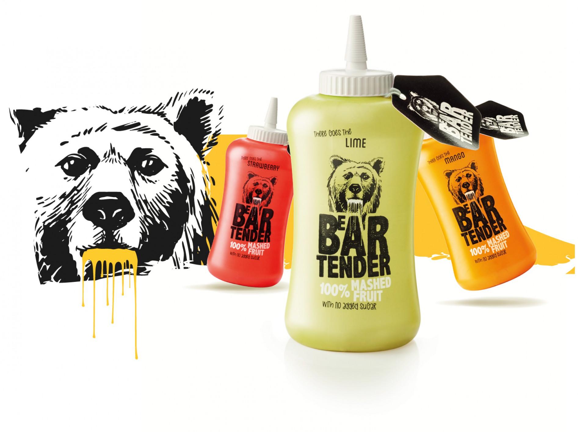 Quatre Mains package design - beartender, quatre mains, rebranding