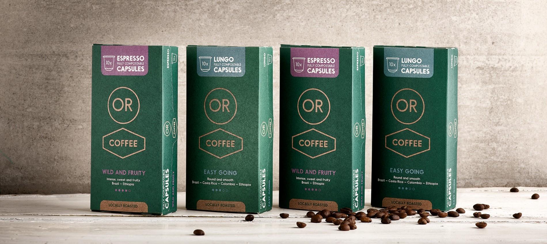 Quatre Mains package design - Package design coffee, or, quatre mains