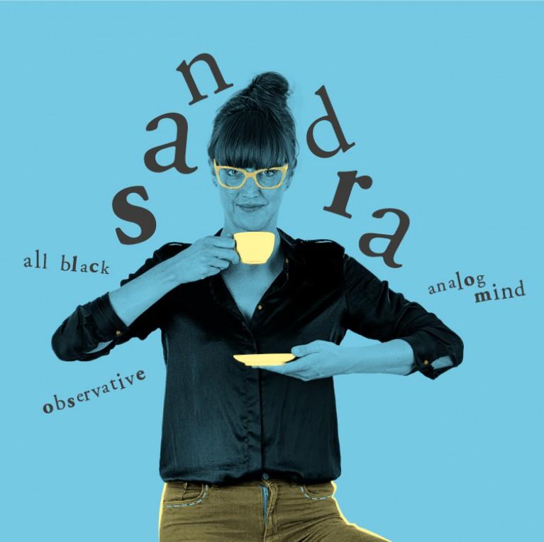 Sandra D - all black, observation, analog mind