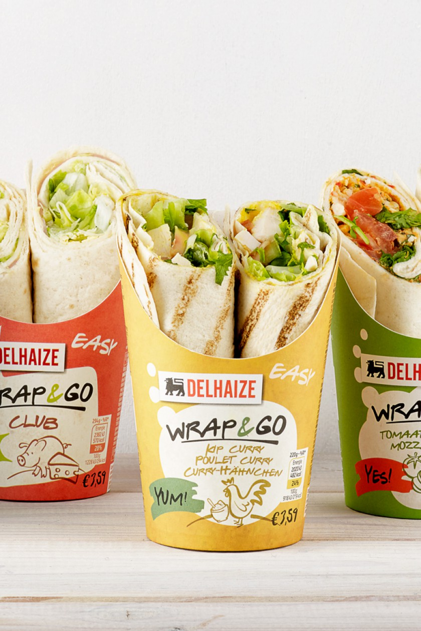 Quatre Mains package design - Package design Delhaize, wraps, packaging, quatre mains