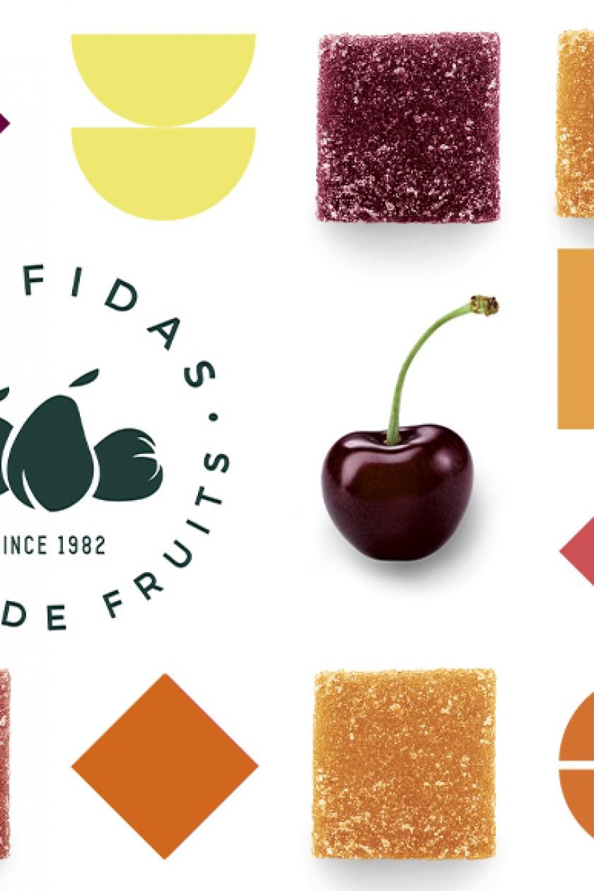 Quatre Mains package design - Package design confidas, fruit bites, jelly, quatre mains