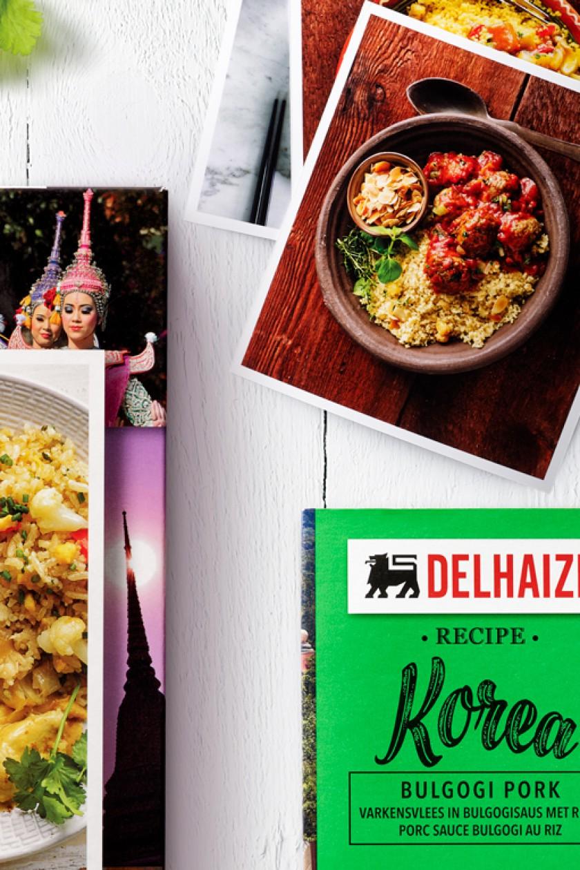 Quatre Mains package design - Food of the World, delhaize, quatre mains