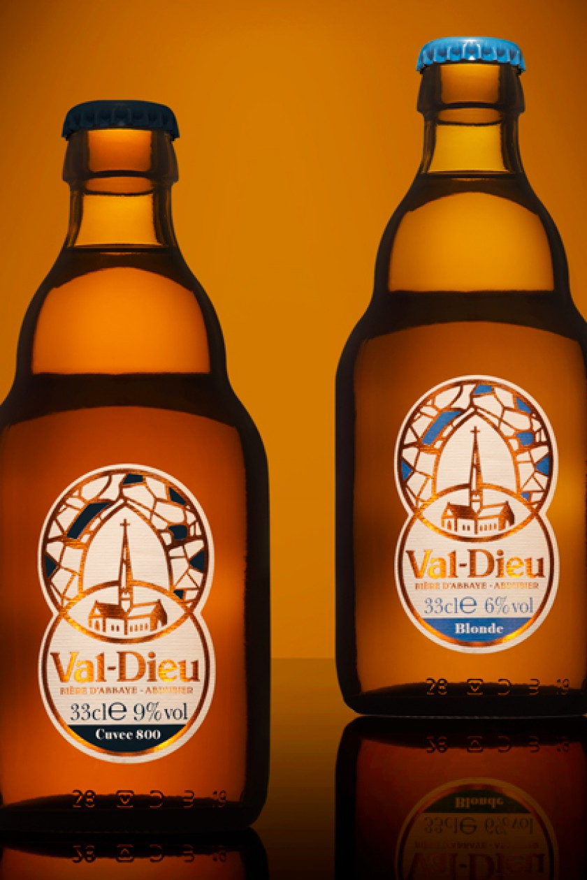Quatre Mains package design - beer, abbey, val-dieu, valdieu, herve, quatre mains