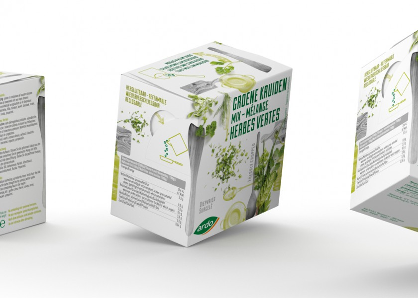 Quatre Mains package design - Package design herbs, frozen, packaging,