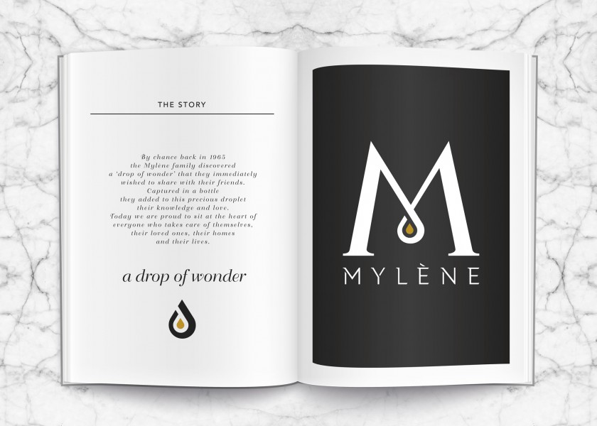 Quatre Mains package design - Package design mylène, homeparty, drop of wonder