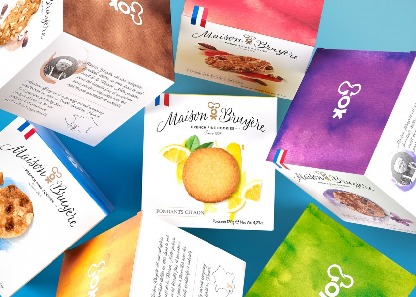 Quatre Mains package design - Package design maison bruyère, french, quatre mains