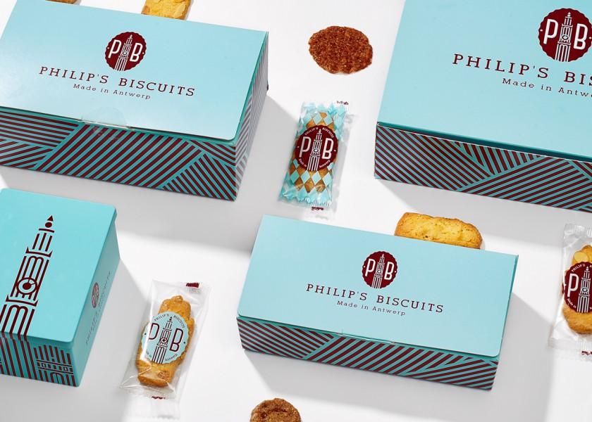 Quatre Mains package design - Package design philips biscuits, rebranding, packaging, antwerpen