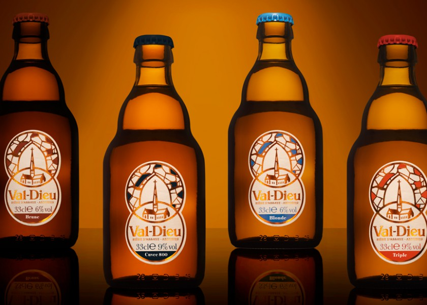 Quatre Mains package design - Package design beer, abbey, val-dieu, valdieu, herve, quatre mains