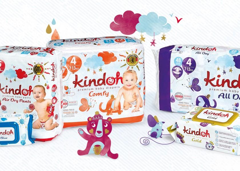 Quatre Mains package design - Package design Kindoh, rebranding, quatre mains, diapers