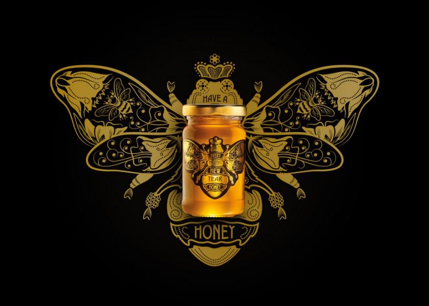 Quatre Mains package design - Package design honing, honey, amielo, quatre mains