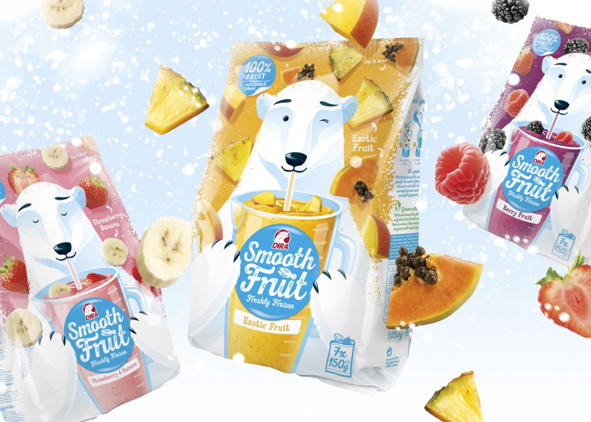 Quatre Mains package design - Package design icey, snowy, dirafrost