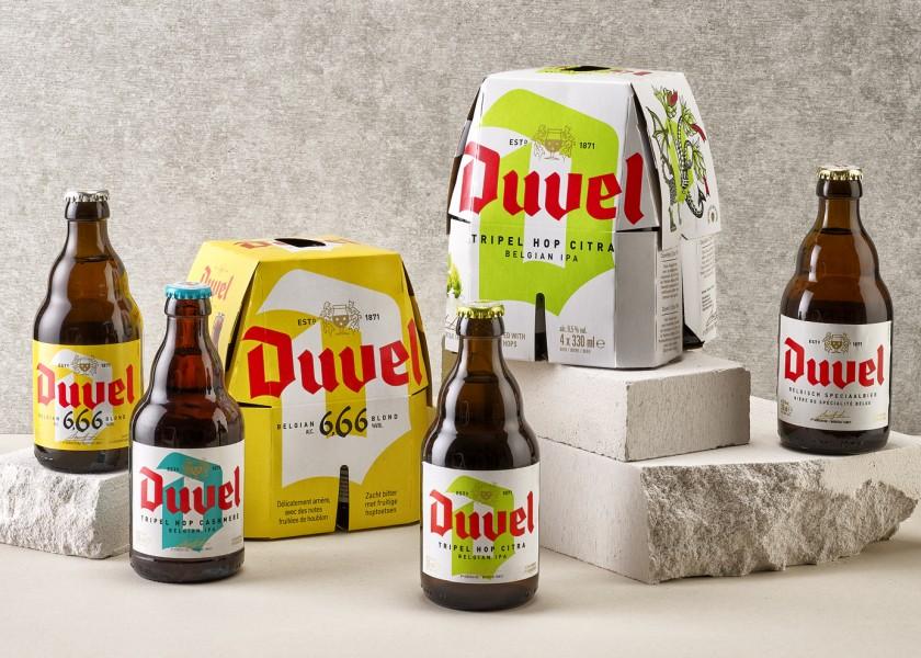 Quatre Mains package design - Package design duvel, moortgat, beer, quatre mains