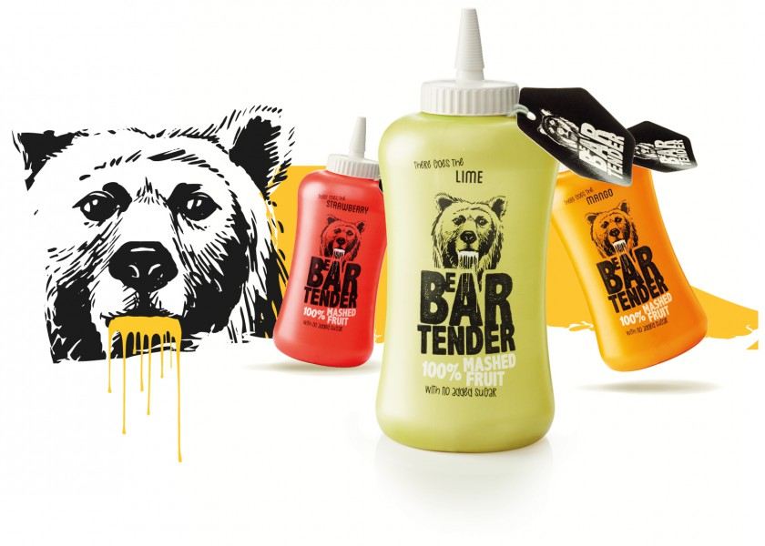 Quatre Mains package design - beartender, quatre mains, rebranding