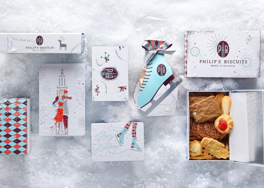 Quatre Mains package design - Package design philips biscuits, quatre mains, branding, packaging