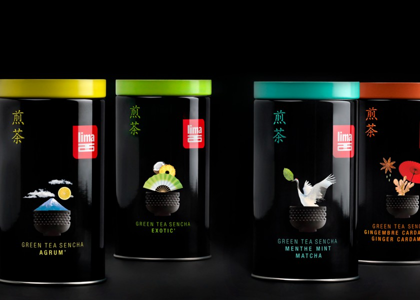 Quatre Mains package design - Package design ginger, kardemom, sencha, japanese tea