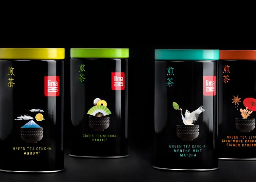 Quatre Mains package design - Package design ginger, kardemom, sencha, japanese tea