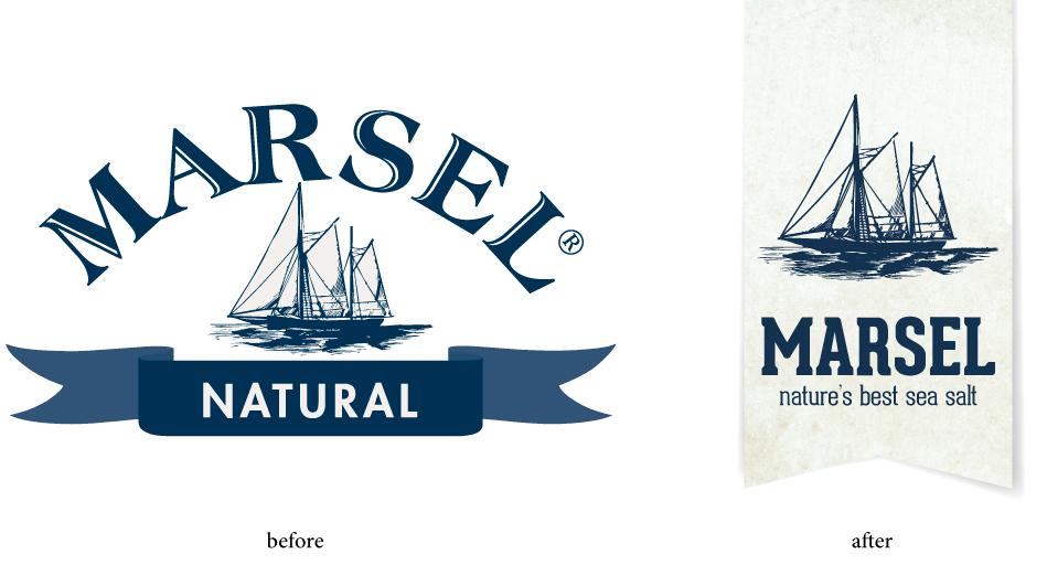Quatre Mains package design - logo, update, marsel, best salt